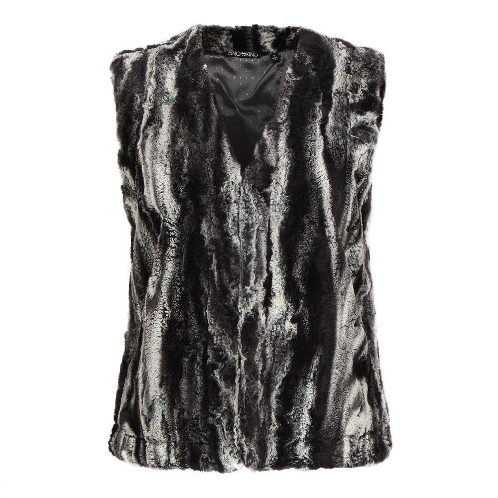 Sno Skins Faux Fur Short Vest (Women's) - Chinchilla