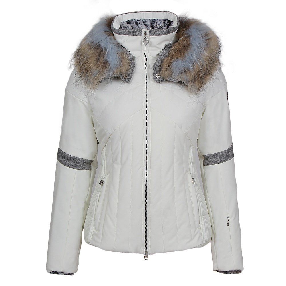 Sportalm Jase Insulated Ski Jacket with Fur (Women's) - Snow White