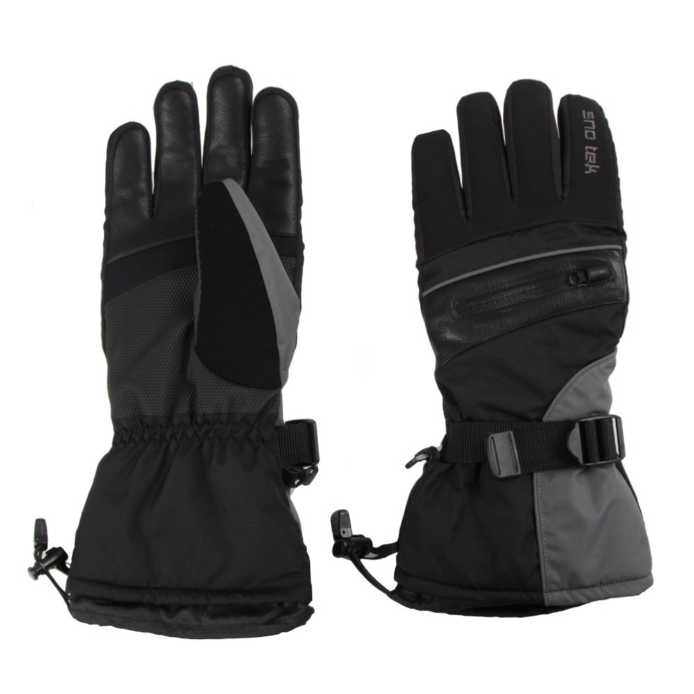 Sno Tek Glove (Men's) - Vista Grey/Black/Solar Red