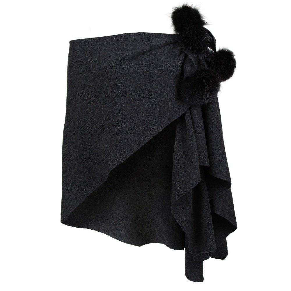 Peter Glenn Knit Wrap (Women's) - Charcoal/Grey