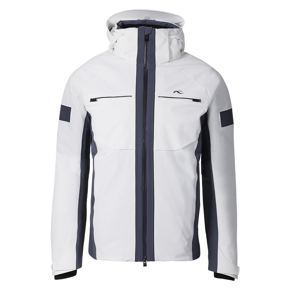KJUS Downforce Ski Jacket (Men's) - White/Night Shadow/Blue