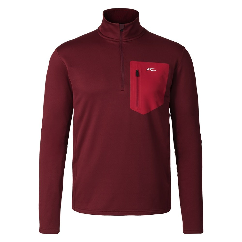 KJUS Hydraulic Half Zip Turtleneck Mid-Layer (Men's) - Biking Red