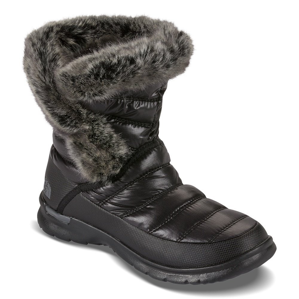 The North Face Thermoball Microbaffle Bootie II (Women's) - Shiny TNF Black/Smoked Pearl Grey