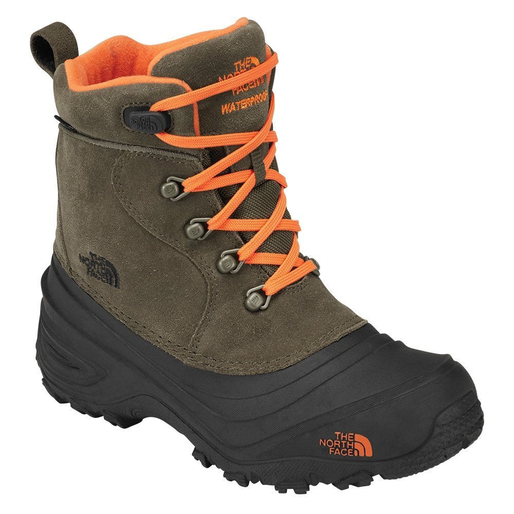 The North Face Chilkat Lace II Boot (Boys') - Tarmac Green/Scarlet Ibis