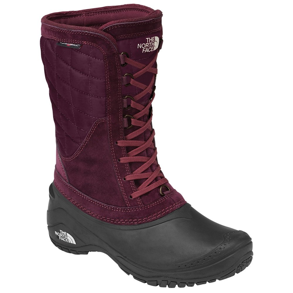 The North Face Thermoball Utility Mid Boot (Women's) - Shiny Fig/Vintage White