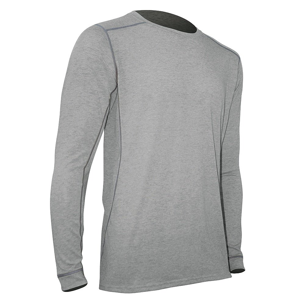 Polarmax Micro H1 Insect Sheild Longsleeve Crew Shirt (Men's) - Grey Heather