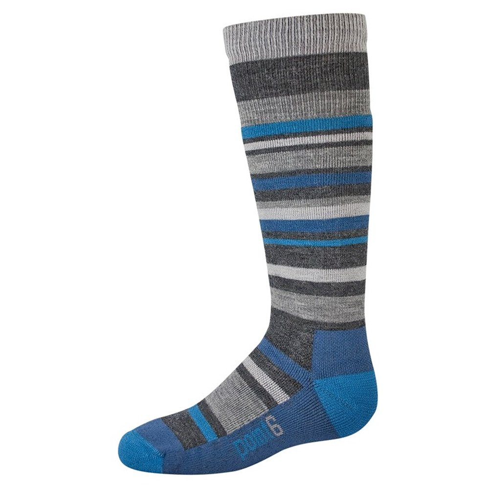 Point6 Rumble Medium Weight Ski Sock (Kids') - Gray
