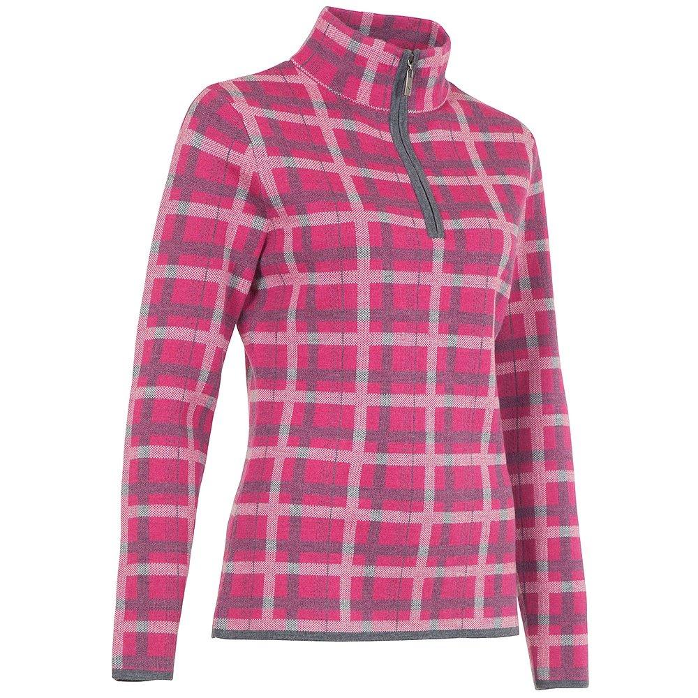 Neve Designs Kate Half Zip Sweater (Women's) - Fuchsia