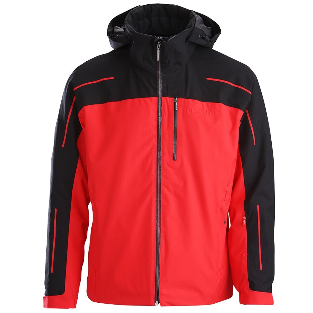 Descente Challenger Insulated Ski Jacket (Men's) - Electric Red/Black