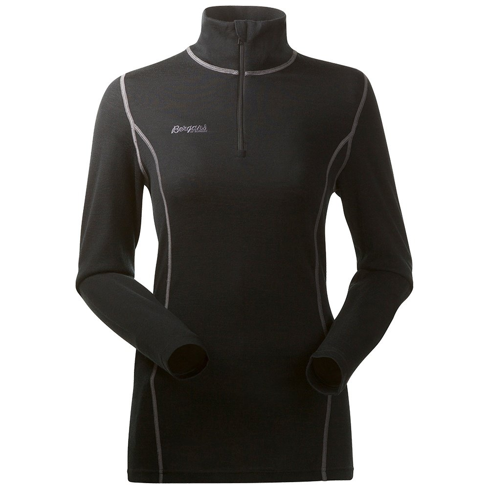 Bergans of Norway Akeleie Half Zip Baselayer Top (Women's) - Black