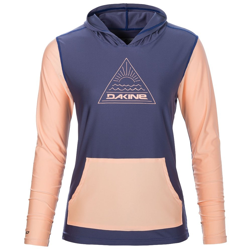 Dakine Flow Loose Fit Hooded Long Sleeve Rash Guard (Women's) - Crown Blue
