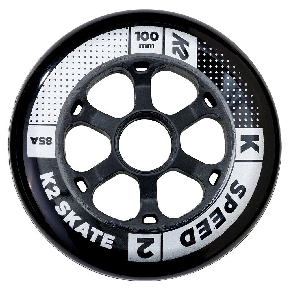 K2 Speed 100mm Inline Skate Wheel 4-Pack - Black