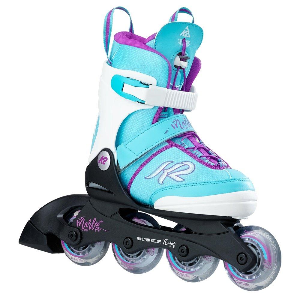 K2 Marlee Pro Inline Skates & Pads (Girls') - Light Blue