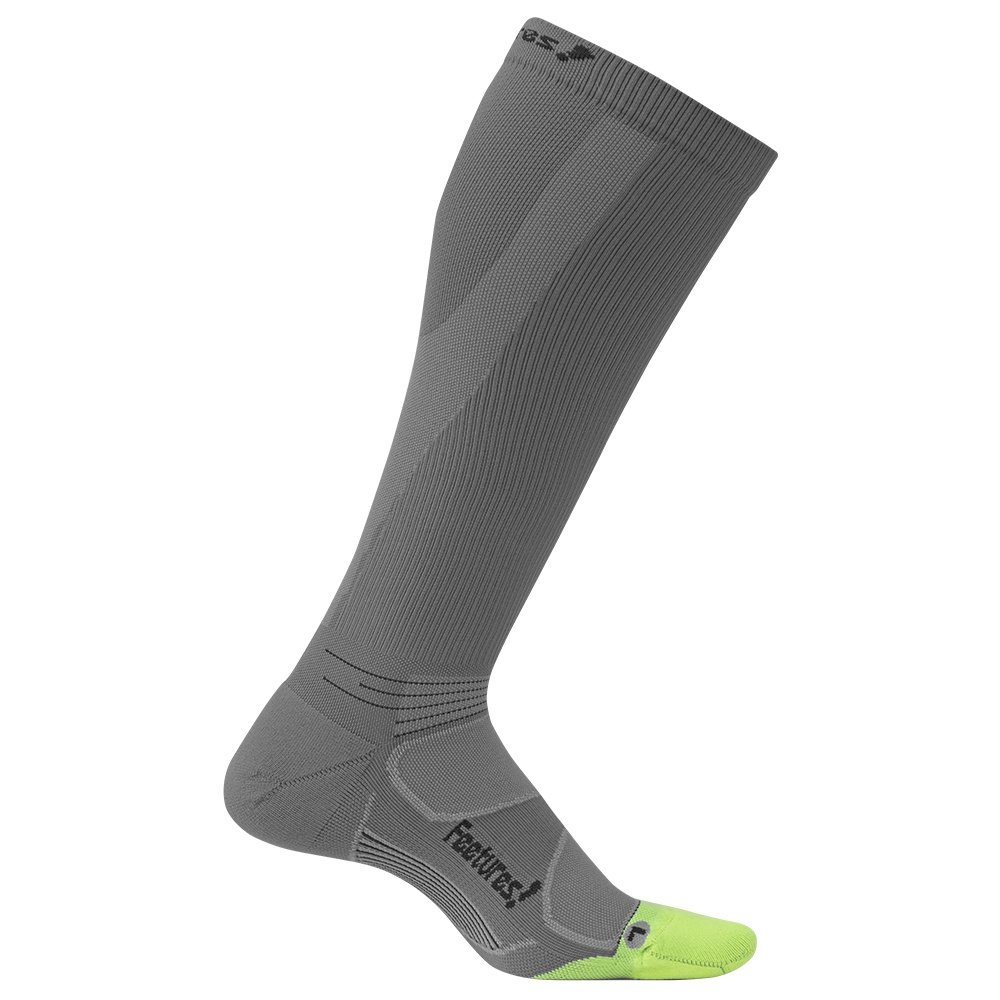Feetures Graduated Compression Socks Light Cushion (Men's) - Graphite/Black