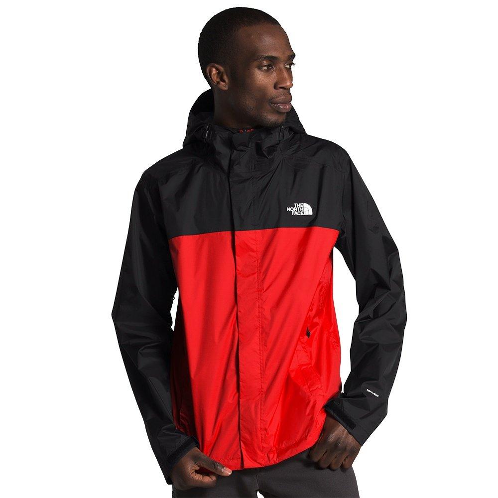 The North Face Venture 2 Rain Jacket (Men's) - Fiery Red/TNF Black/TNF White