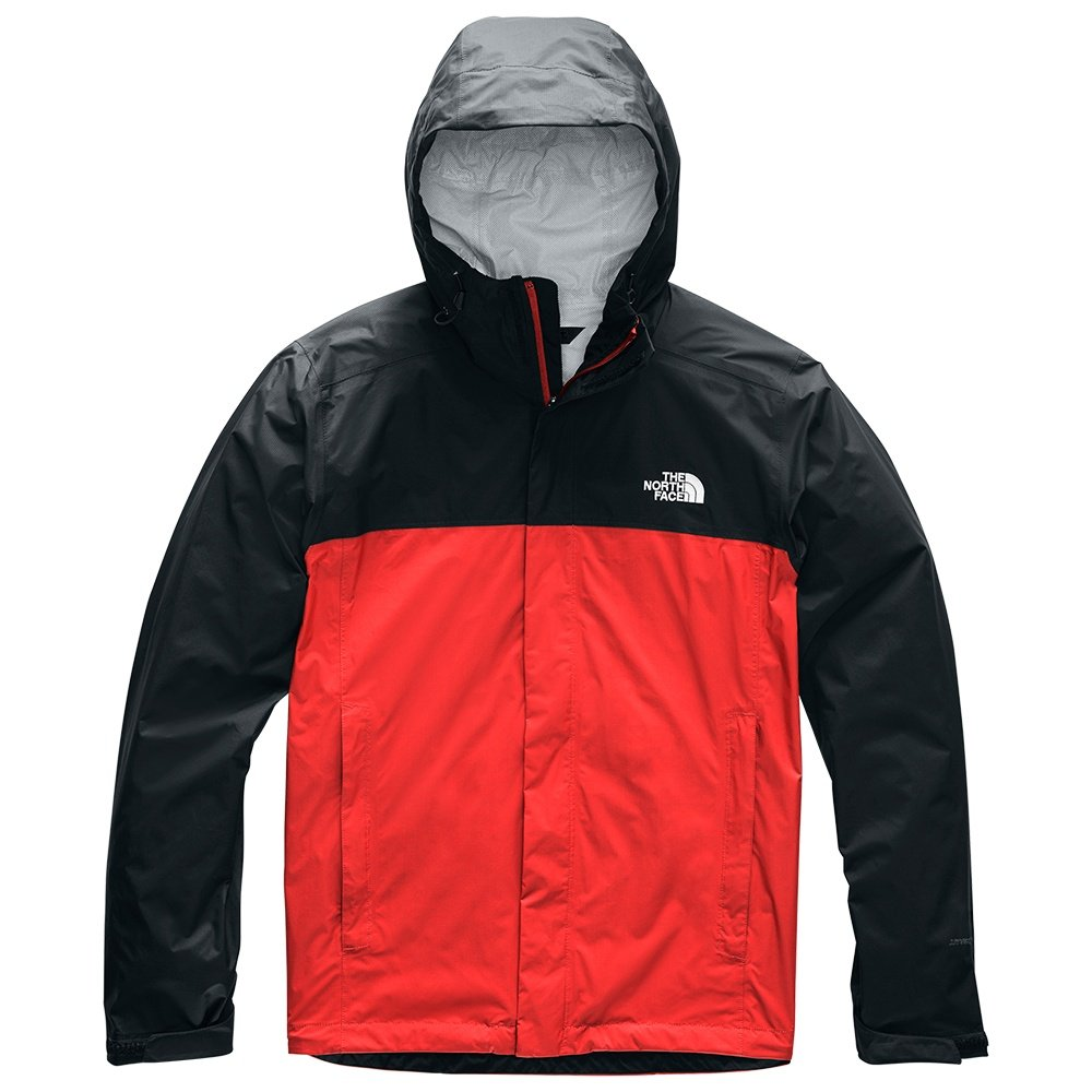 The North Face Venture 2 Rain Jacket (Men's) - Fiery Red/TNF Black
