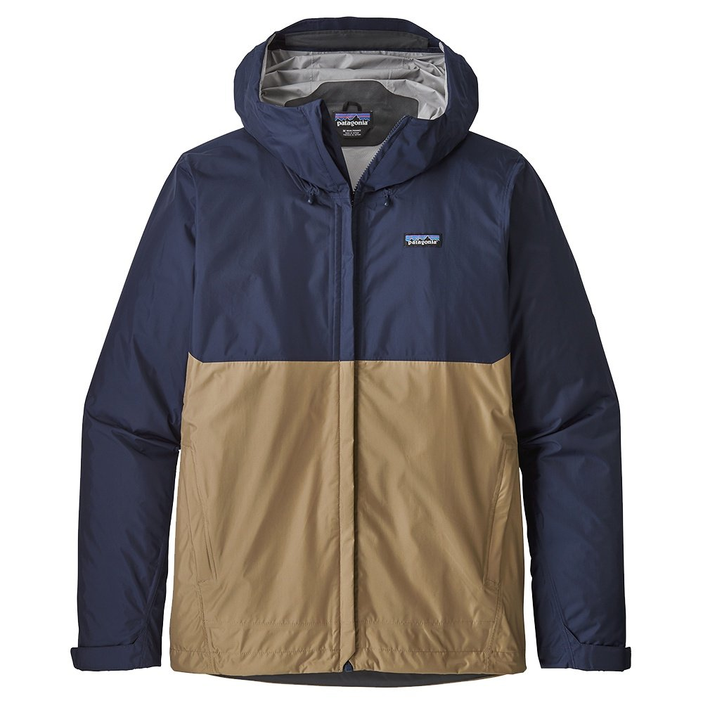 Patagonia Torrentshell Rain Jacket (Men's) - Classic Navy/Mojave Khaki