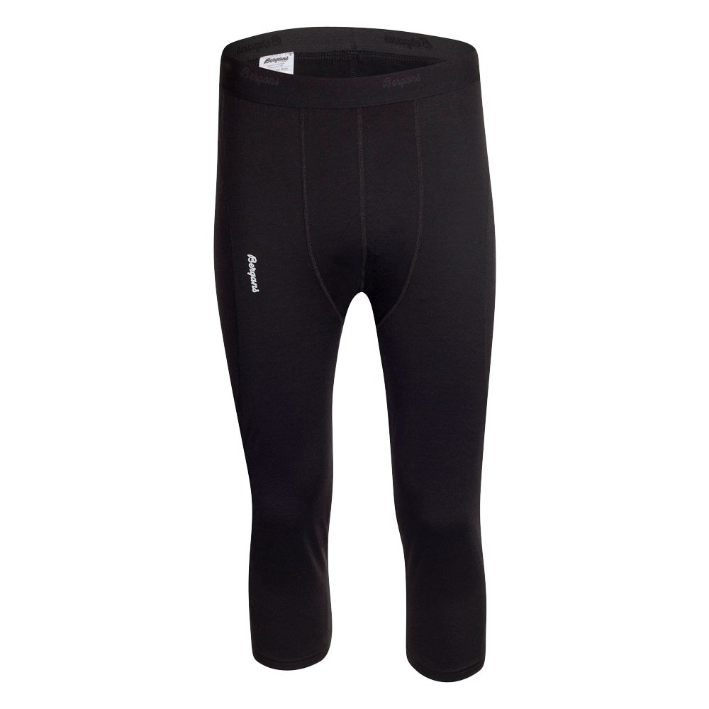 Bergans of Norway Fjellrapp 3/4 Baselayer Bottom (Men's) - Black