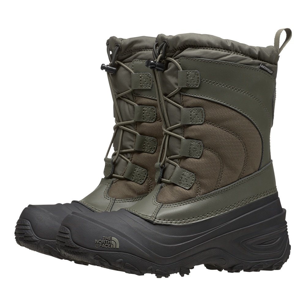 The North Face Alpenglow IV Boot (Kids') - New Taupe Green/TNF Black