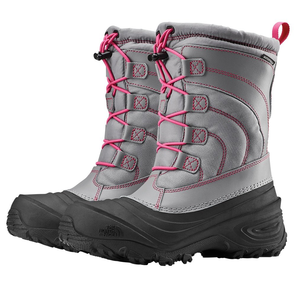 The North Face Alpenglow IV Boot (Kids') - Frost Grey/Mr. Pink