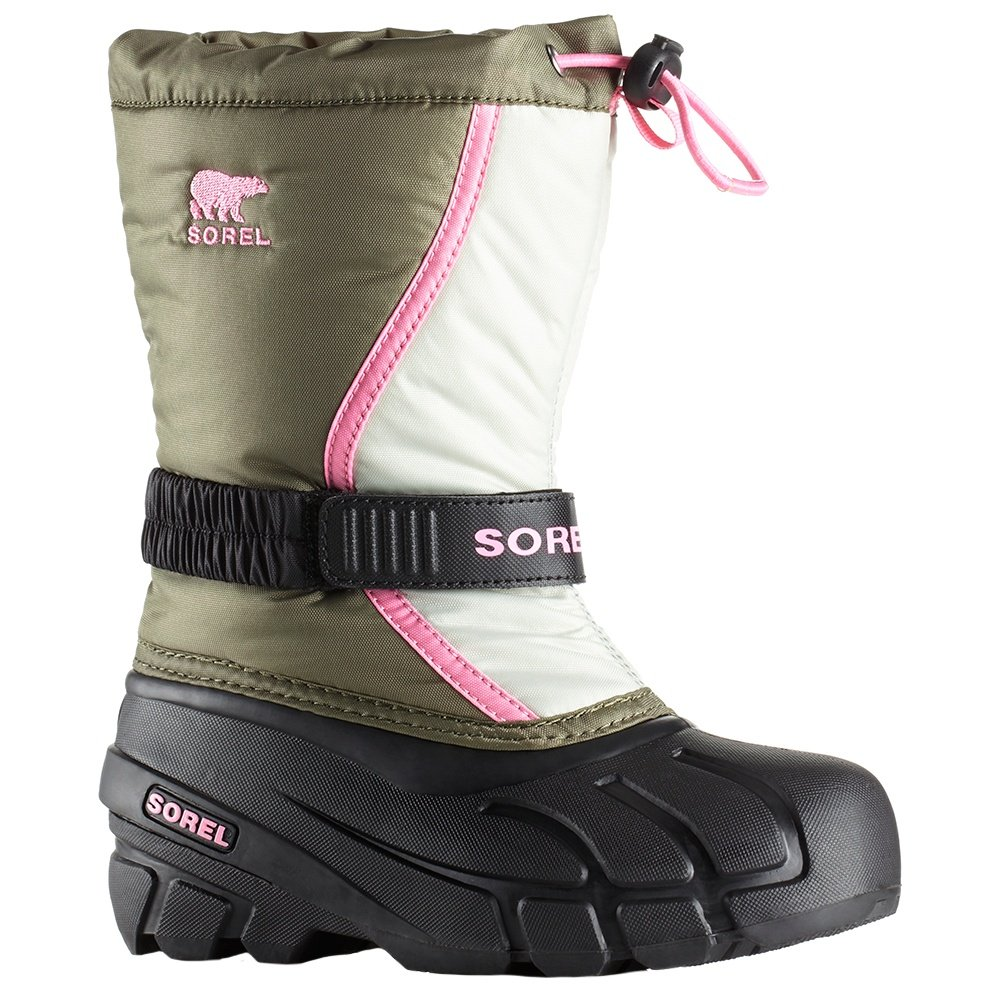 Sorel Flurry Boot (Little Kids') - Hiker Green/Alpine Tundra