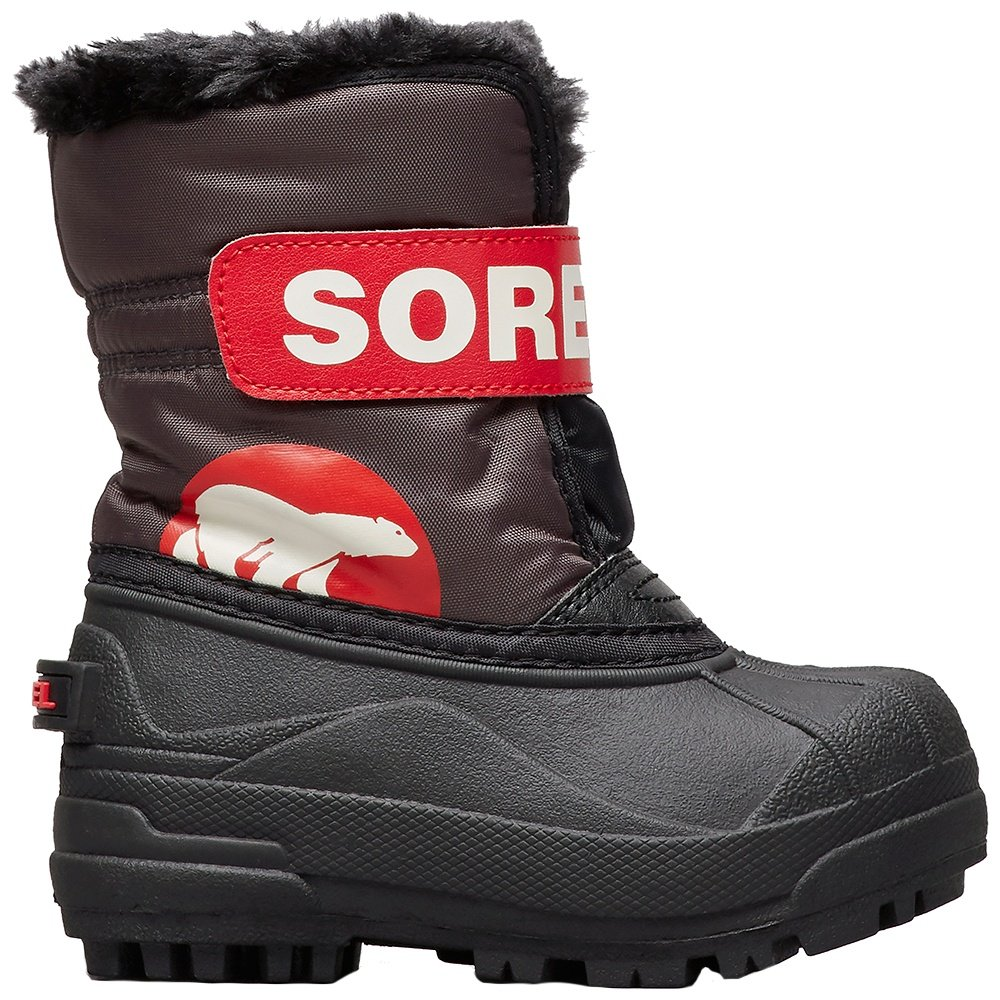 Sorel Snow Commander Boot (Little Girls') - Dark Grey/Bright Red