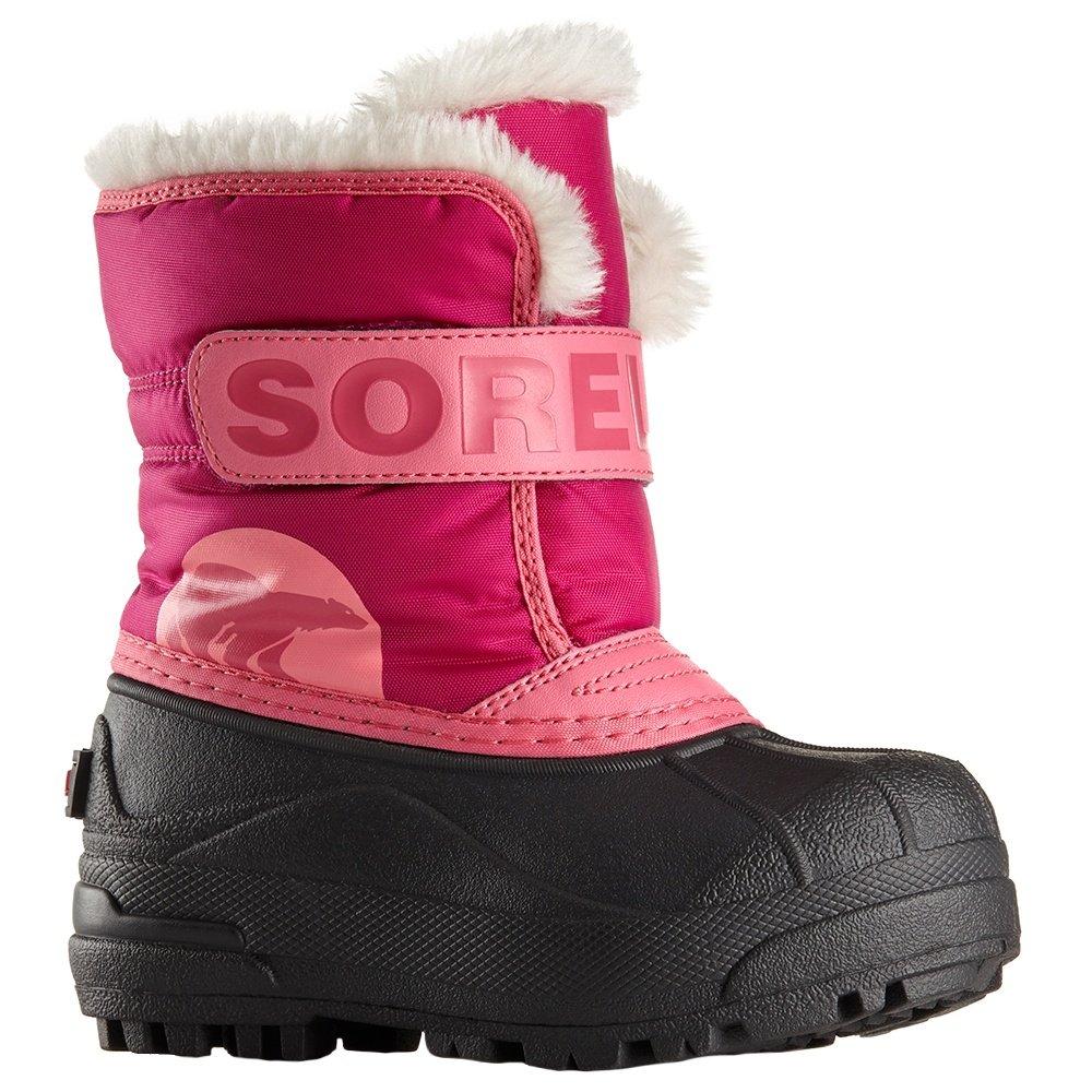 Sorel Snow Commander Boot (Little Girls') - Tropical Pink/Deep Blush