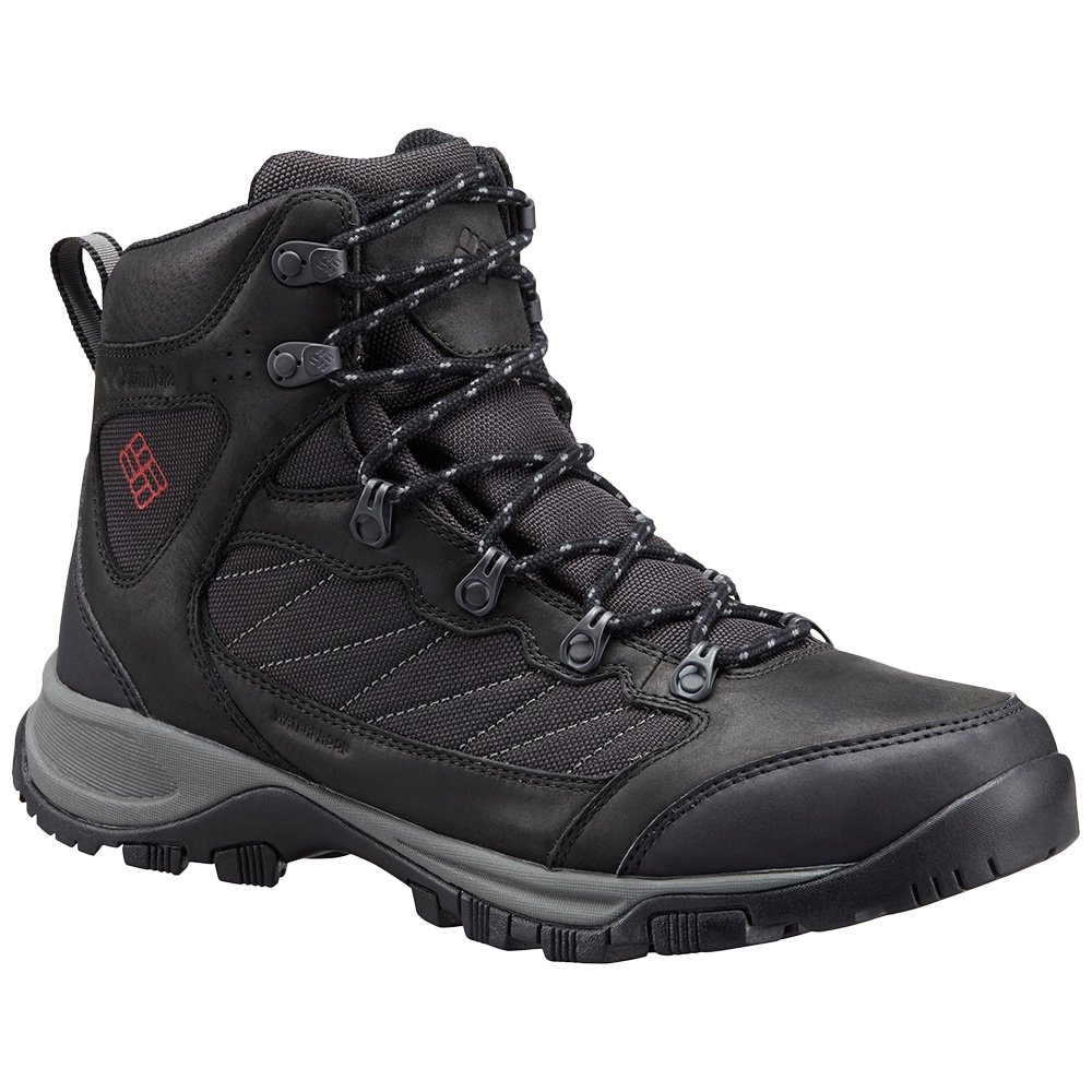 Columbia Cascade Pass Waterproof Hiking Boot (Men's) - Black/Mountain Red