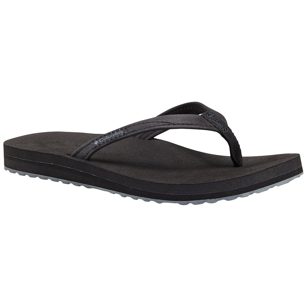 Columbia Sorrento Leather Flip Sandal (Women's) - Black