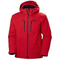 Alert Red Helly Hansen Juniper 3.0 Insulated Ski Jacket (Men\'s)