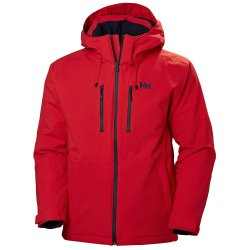 Alert Red Helly Hansen Juniper 3.0 Insulated Ski Jacket (Men\'s)