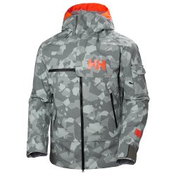 Quiet Shade Camo Helly Hansen Garibaldi Shell Ski Jacket (Men\'s)