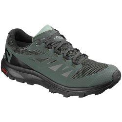 Urban Chic/Black/Green Milieu Salomon OUTline GORE-TEX Trail Running Shoe (Men\'s)