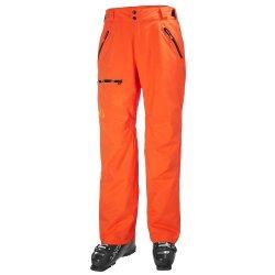 Bright Orange Helly Hansen Sogn Insulated Cargo Ski Pant (Men\'s)