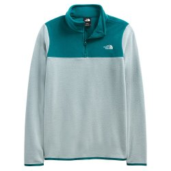 Silver Blue/Shaded Spruce The North Face TKA Glacier 1/4-Zip Mid-Layer (Women\'s)
