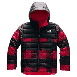 TNF Red Buff Check Print The North Face Reversible Perrito Jacket (Boys\')