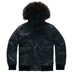 TNF Black Camo Print The North Face Gotham Down Ski Jacket (Boys\')