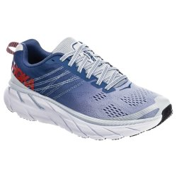 Plein Air/Moonlight Blue Hoka One One Clifton 6 Wide Running Shoe (Women\'s)