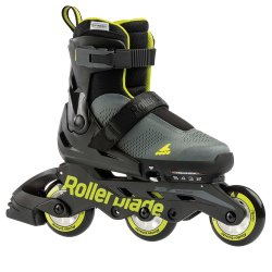 Anthracite/Lime Rollerblade Microblade Free Inline Skate (Boys\')