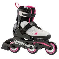 Cool Grey/Candy Pink Rollerblade Microblade Free Inline Skate (Girls\')