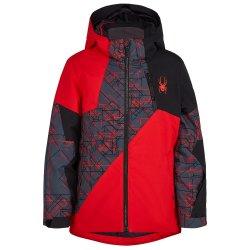 Volcano/Network Print Spyder Ambush Insulated Ski Jacket (Boys\')