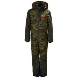 Olive AOP Helly Hansen Fly High Insulated Ski Suit (Boys\')