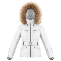 Fancy White Poivre Blanc Winnie Insulated Ski Jacket with Faux Fur (Girls\')