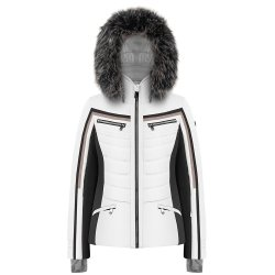 Multico White Poivre Blanc Clay Insulated Ski Jacket with Faux Fur (Women\'s)