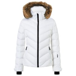 White Bogner Fire + Ice Sassy2-D Down Ski Jacket with Real Fur (Women\'s)