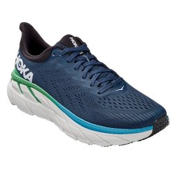 Moonlit Ocean/Anthracite Hoka One One Clifton 7 Wide Running Shoe (Men\'s)