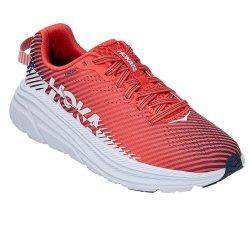 Hot Coral/White Hoka One One Rincon 2 Running Shoe (Women\'s)
