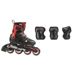 Black/Red  Rollerblade Microblade Combo Set (Boys\')