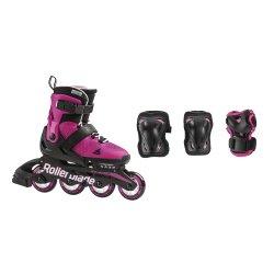 Black/Pink Rollerblade Microblade Combo Set (Girls\')