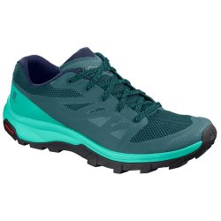 Hydro/Atlantis/Medieval Blue Salomon OUTline Hiking Shoe (Women\'s)